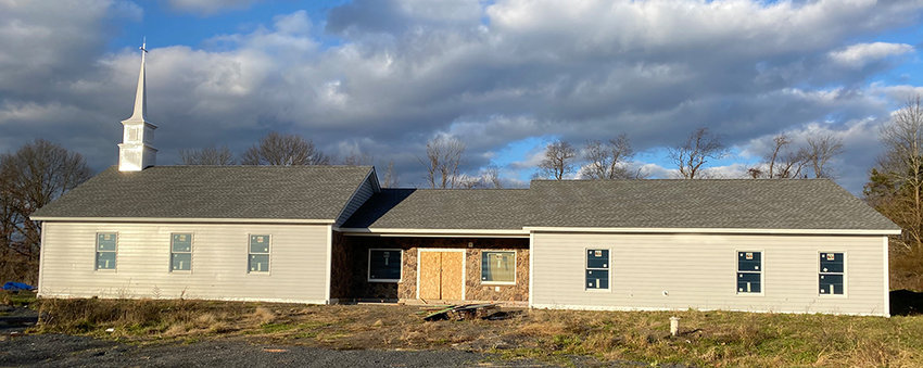 The exterior of the new Walden United Methodist Church building on 1206 Route 52 is nearing completion.