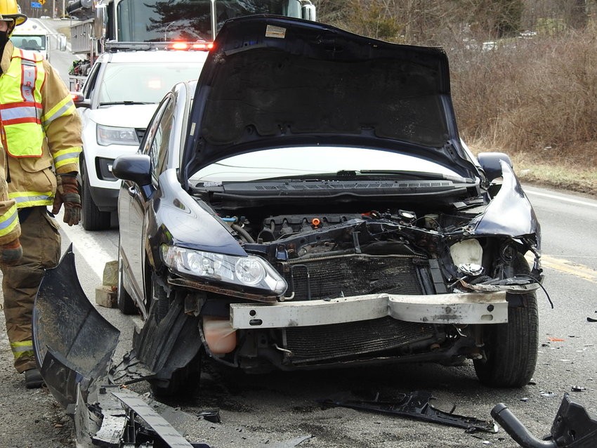 Multiple injuries were reported Saturday in an accident on Route 32