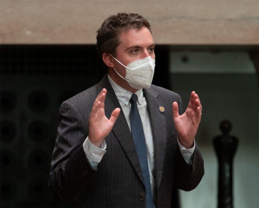 Sen James Skoufis was sworn in last week to his second term in the state senate.