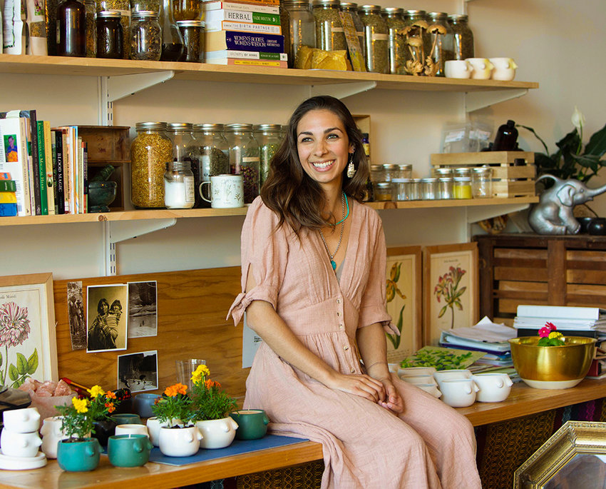 Sasha Geerken of Newburgh helps intersect herbalism and women's wellness with her work as a doula, midwife and herbalist.
