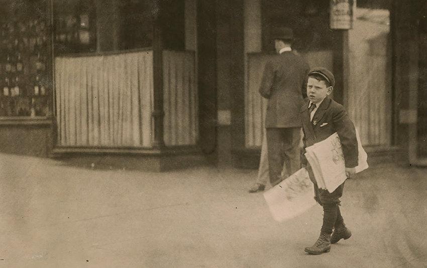 "Lewis Hine, ""Israel April…,"" 1912, The Samuel Dorsky Museum of Art."
