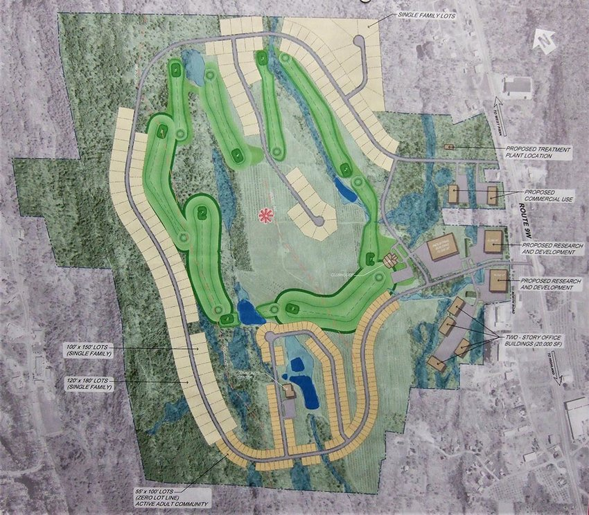 The original 2011 rendering of the Falcon Ridge project shows in detail the scope of the developer's plans for the former Altamont Farm site.