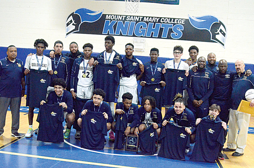 The Newburgh Free Academy boys' basketball team is shown after winning the Section 9 Class AA championship on March 7, 2020, at Mount Saint Mary College in Newburgh. The Newburgh Enlarged City School District Board of Education voted on Thursday not to go ahead with boys' and girls' basketball and cheerleading, classified as high-risk sports, in 2021.