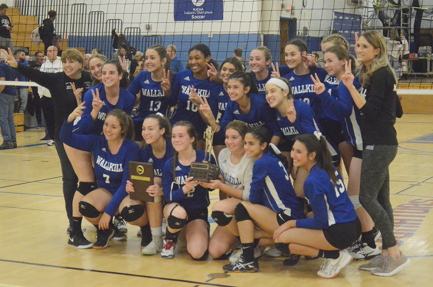 The Wallkill volleyball team won their second straight MHAL championship on Oct. 30, 2019, at SUNY Ulster with 2-0 wins over Red Hook and Mount Academy.