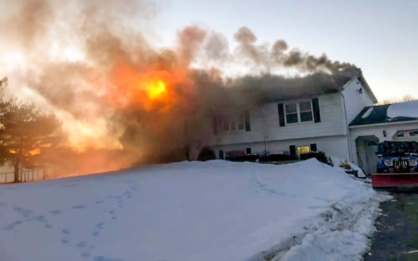 Last Wednesday evening, a fire burned much of John and Linda Bruder's home at 404 Galeville Road in the Town of Shawangunk.