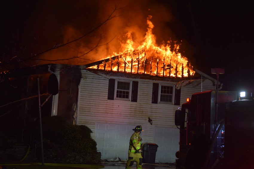 Firefighters responded to a fire at 115 Meadow Hill Road early Sun day morning.