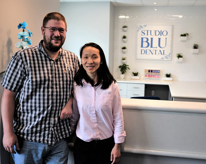 Dr. Chuan Wang, along with the support of her husband Devin Britton, will be opening her Studio Blu Dental practice this month.