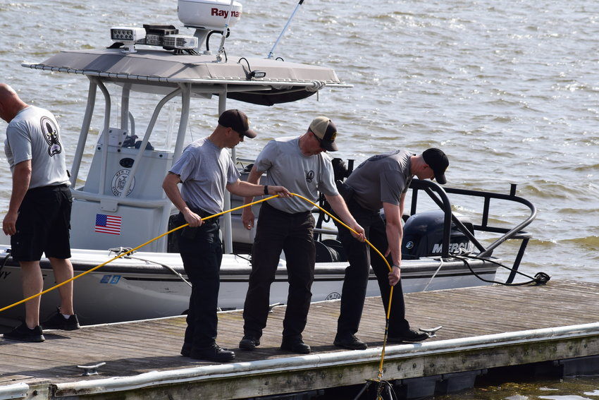 A search for a Newburgh man who had apparently fallen from a Front Street dock was concluded Thursday morning.