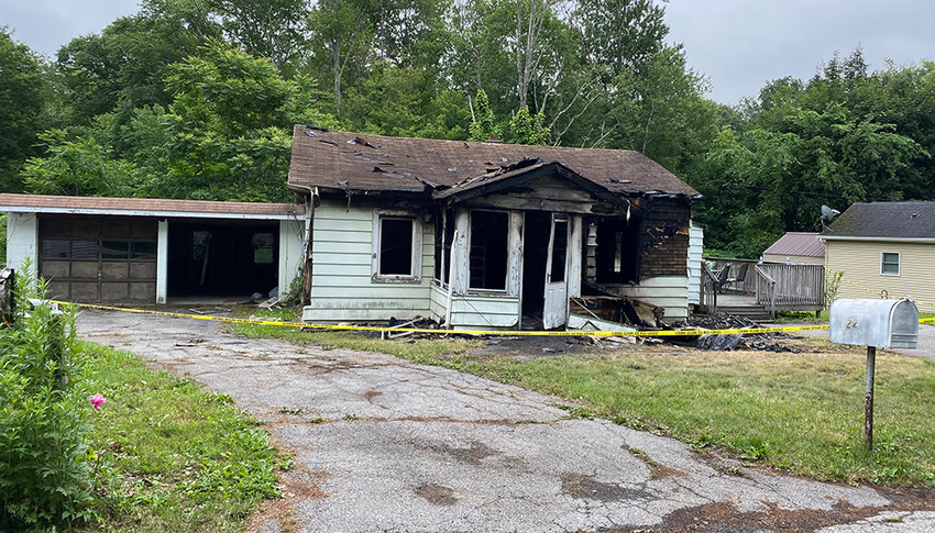 A fire occurred on the morning of June 10 at this house on 22 Barron Road in the Town of Montgomery. Two residents were able to escape, however the blaze killed a man.