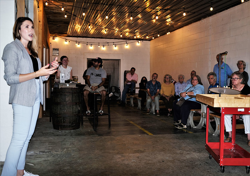 State Senator Michelle Hinchey [D-NY46] recently met with her constituents at the Hudson Ale Works, a craft brewery in Highland, to update them on her first months in office.