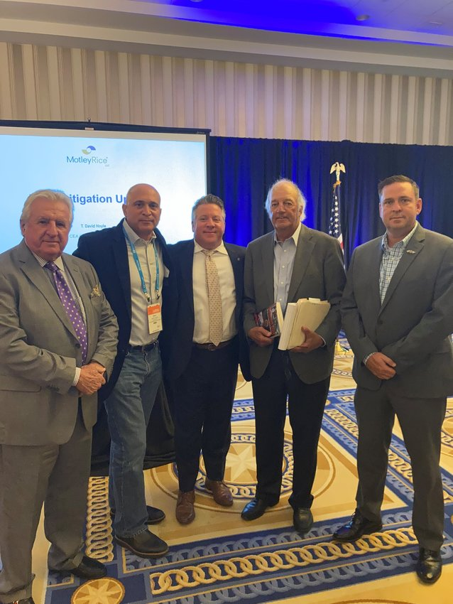 (From Left to Right) Mike Griffin, Executive Director, County Executives of America, NYSAC Executive Director Stephen J. Acquario, Albany County Executive Dan McCoy, Joseph F. Rice, an attorney with Motley Rice, and Orange County Executive Steven M. Neuhaus in Maryland last week.