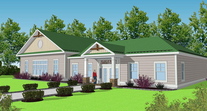 A rendering of The Anita Louise Vandermark Community Center.