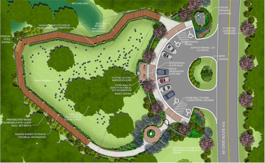 The conceptual design for the African American cemetery in the Town of Montgomery.