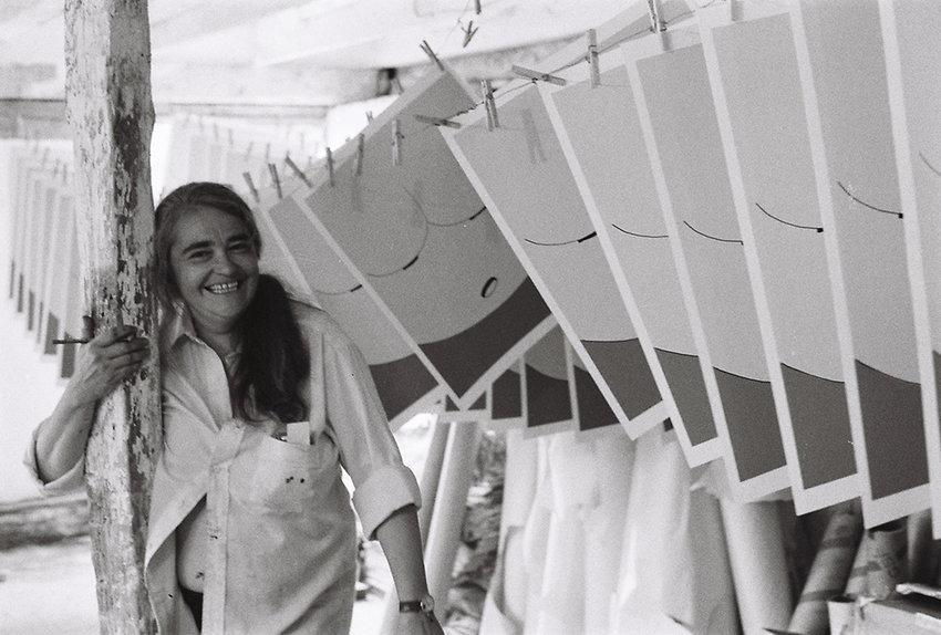 Jane Winter, Untitled, ca. 1984, digital photograph of Kate Millett, courtesy the artist.