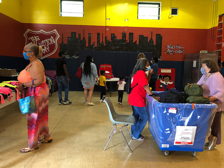 Visitors to the Salvation Army's Family Fun Day last Saturday.