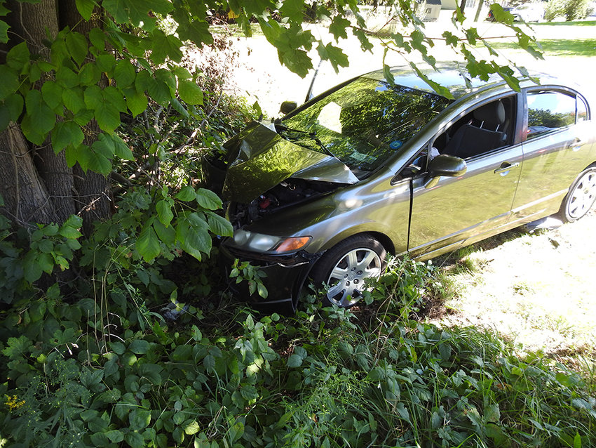 Orange Lake FD responded to a vehicle off road into a tree on Rock Cut Road on September 19.