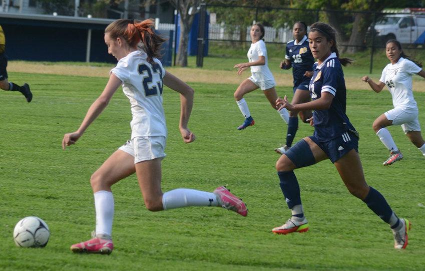 OCIAA girls' soccer game on Sept. 13 at E.J. Russell Elementary School in Pine Bush.