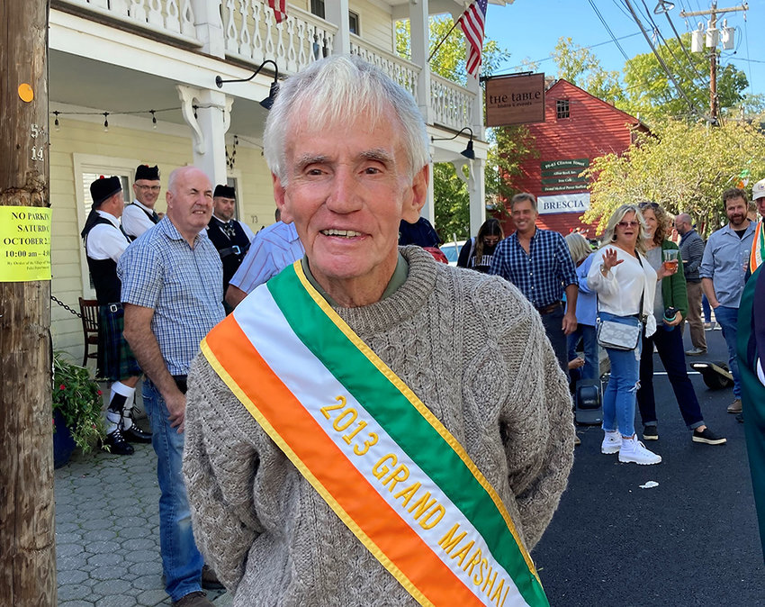 """Pat Kelleher was the first Grand Marshall in 2013 said, """"This was a great idea to hold the parade now. I give all of the organizers a lot of credit."""""""