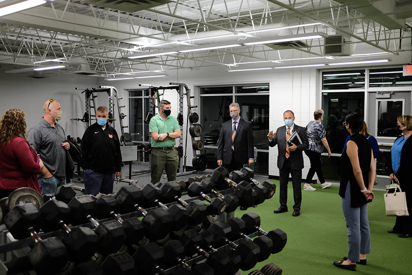 The School Board took a tour of the new fitness center at the High School.
