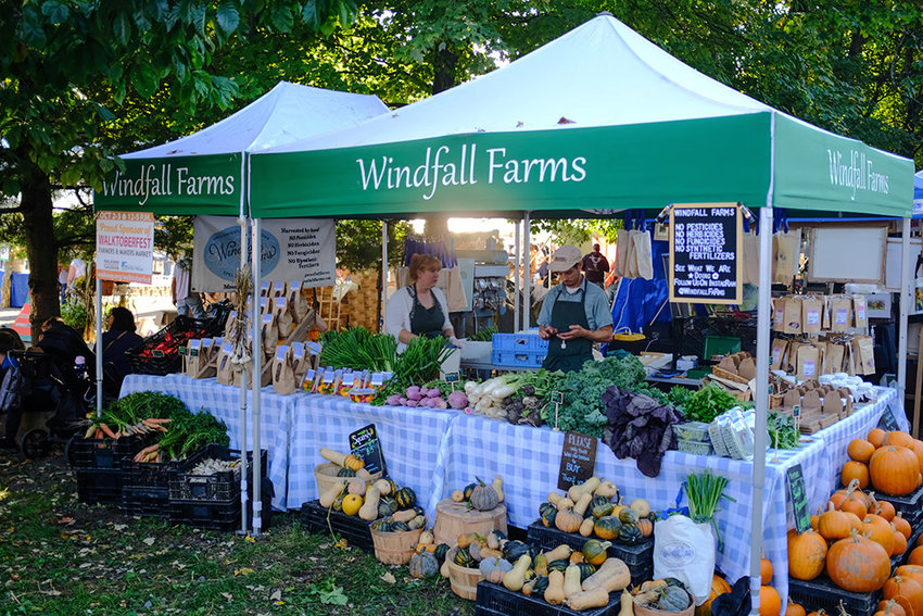 Windfall Farms brought a host of products and produce from their farm in Montgomery.