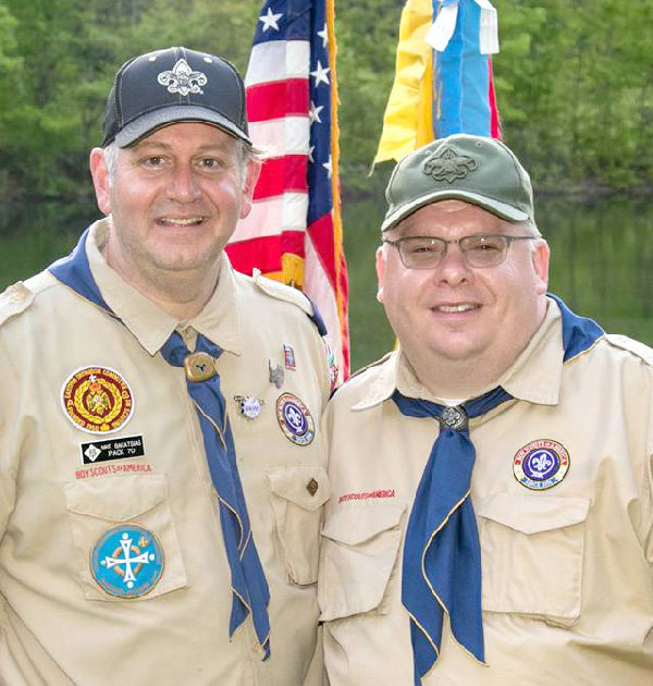 Mike Bakatsias (left) and Reg Osterhoudt (right) to assume new leadership roles with Troop 70.