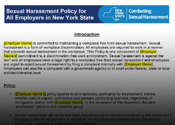 Know, sexual harassment annual training