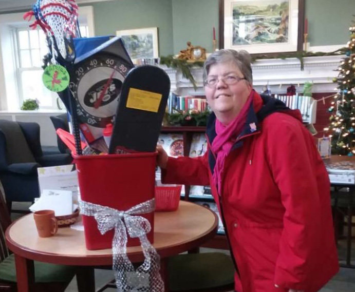 Congratulations to Yvonne Moretti, winner of the Walden Historical Society's Sports Basket raffle.