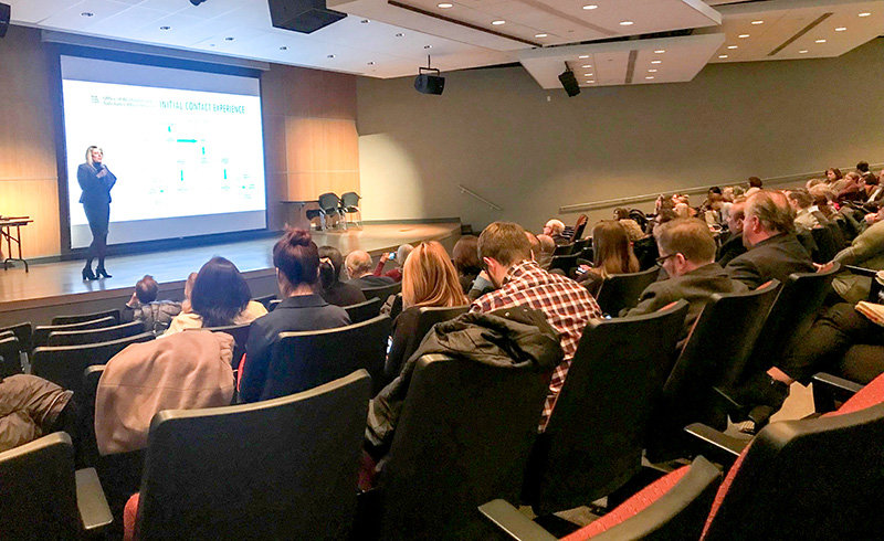 Darcie Miller, Orange County Commissioner of Social Services and Mental Health, reviewed the great strides Orange County, treatment providers and community organizations made in the fight against the opioid epidemic at a crowded forum on Jan. 18.