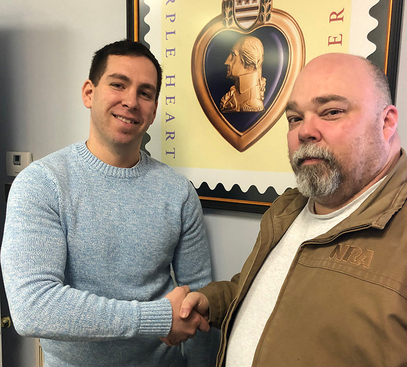 Rick Penney, Commander of the Sons of Amvets Squadron 2946 is working  with Purple Heart Hall of Honor, Inc. Executive Director, Brian Maher to achieve recognition for deserving World War II Walden Veterans.