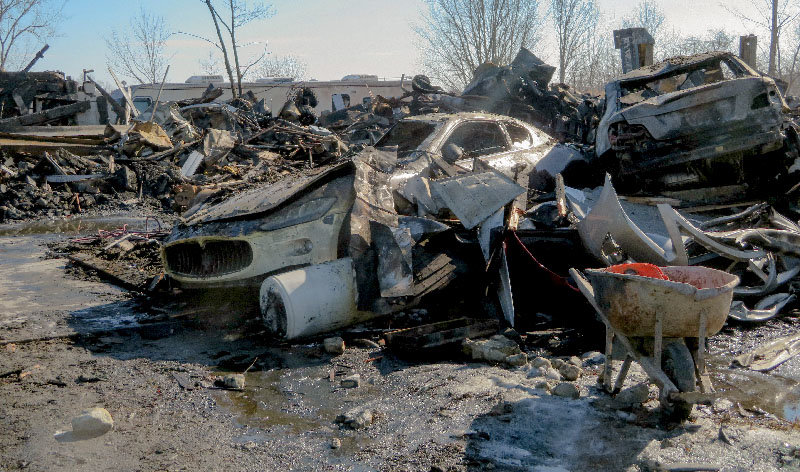 All that is left are hunks of twisted metal after a fire destroyed an auto body shop in Wallkill last weekend.