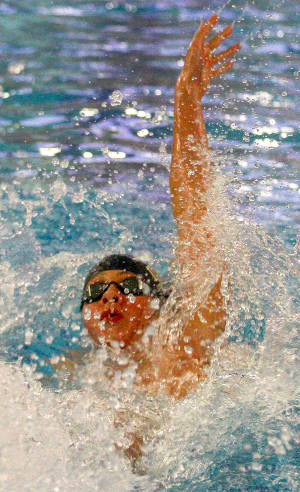 Luka Samsonov was second in the 100-backstroke during the OCIAA championships.