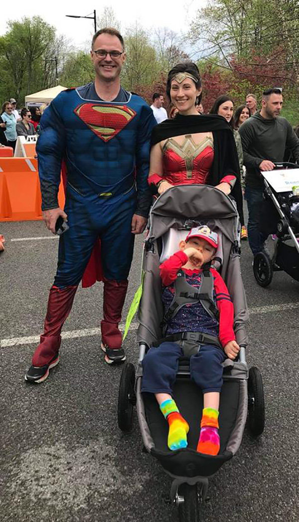 Dressed as superheroes to demonstrate the power of family and preseverance, the Schultzes joined family members and friends who journeyed across the Walkway Over the Hudson last May to raise awareness and funding for the Ronald McDonald House.