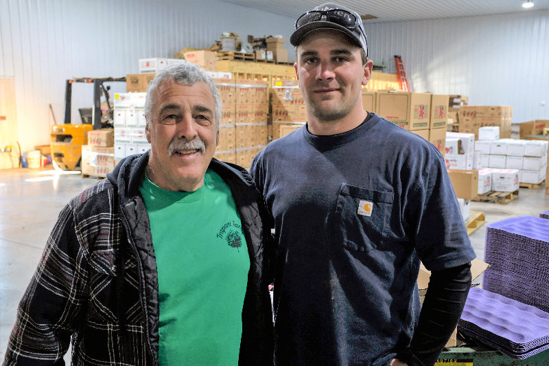 Ben Trapani (L) stands beside his son Scott, who is continuing in the family business.