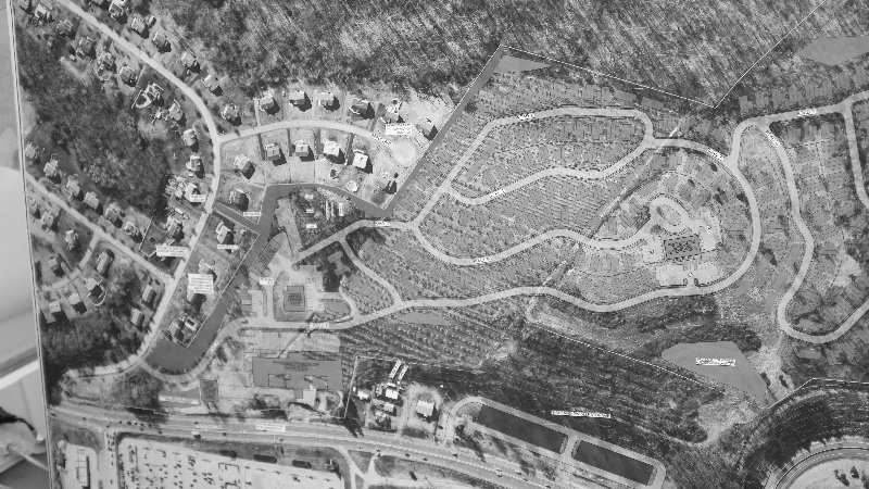 An aerial view of the proposed retirement community in Lloyd.
