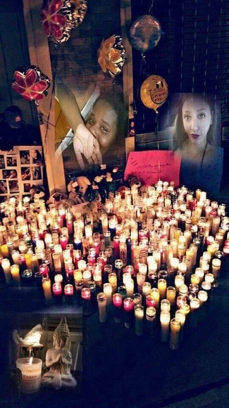 The loss of Omani and Tabitha could be felt throughout the city, people lit candles and created a memorial for the two girls.