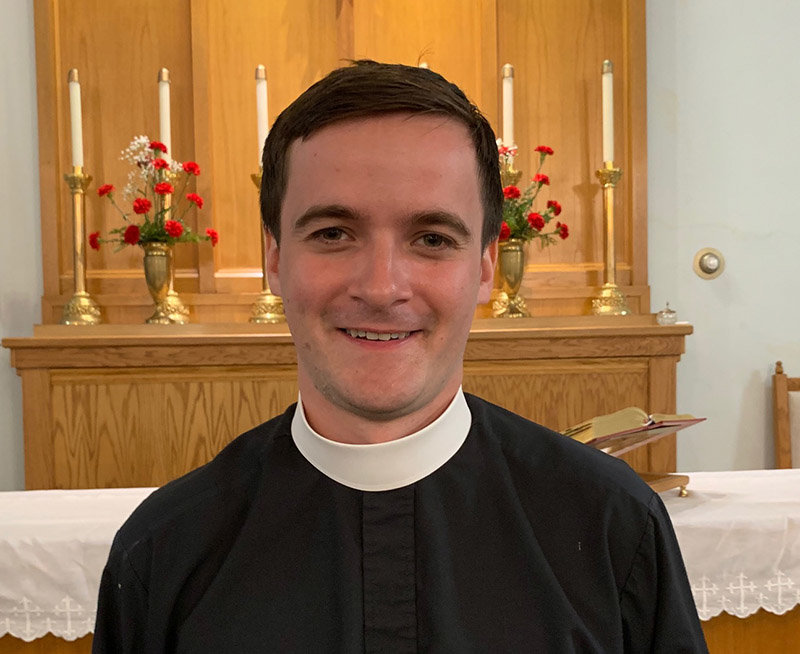 Father Matthew Reiman became Holy Name of Mary Assumption's new parish administrator on July 1. Photo by Laura Fitzgerald.
