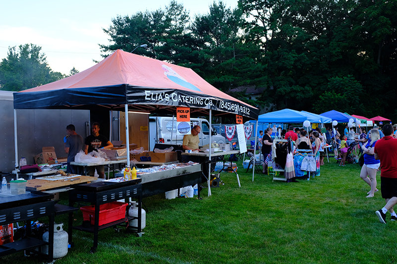 A variety of vendors lined the town field.