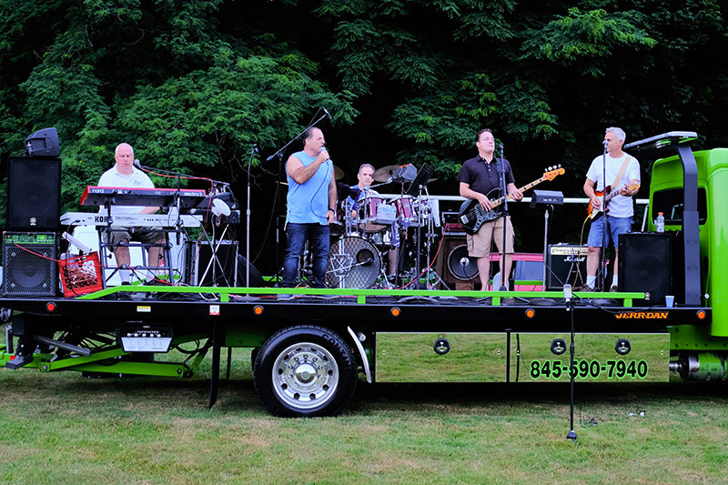 The Touch of Rhythm Band performed a range of pop and rock n' roll music right up until the fireworks display.