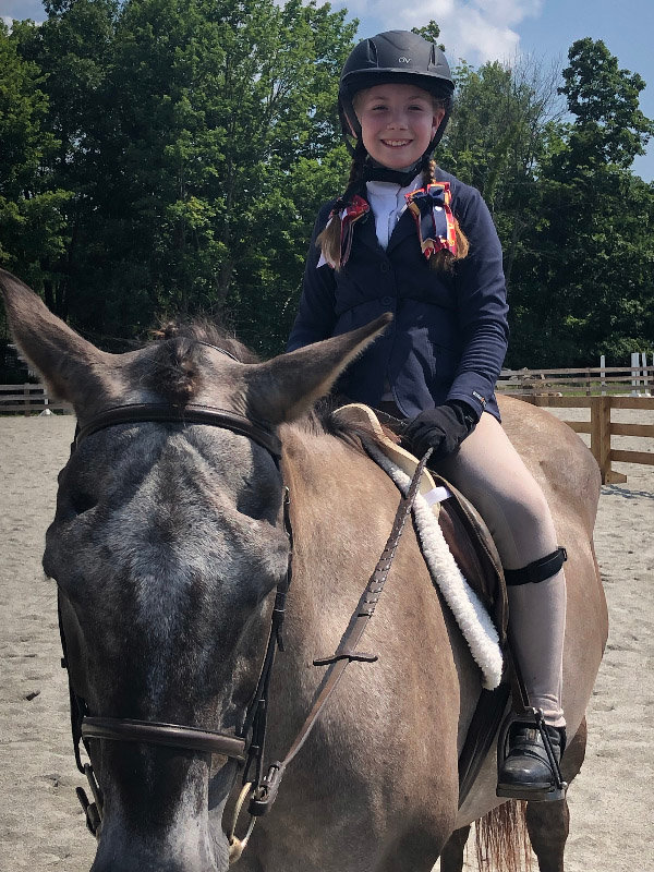 Bailey Boyce of Pine Bush with her horse Mouse.