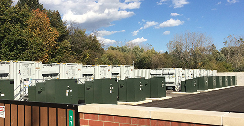 Elwood Battery Storage in West Chicago, IL.