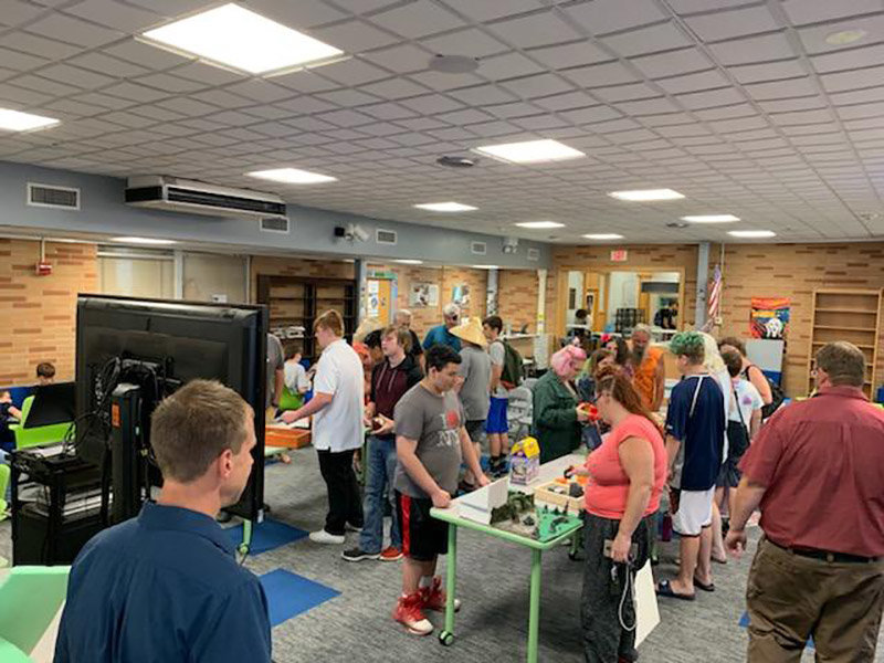 Seventh and eighth grade students from the Wallkill Central School District Summer Learning Academy present their projects to parents at a graduation on Aug. 1. Photo provided.