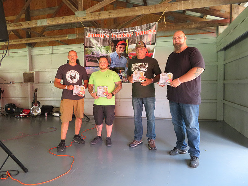 Rob Stokes and Seth Pacella won best truck, Bill Wilson won best poker hand and David Gurbisz won best bike.