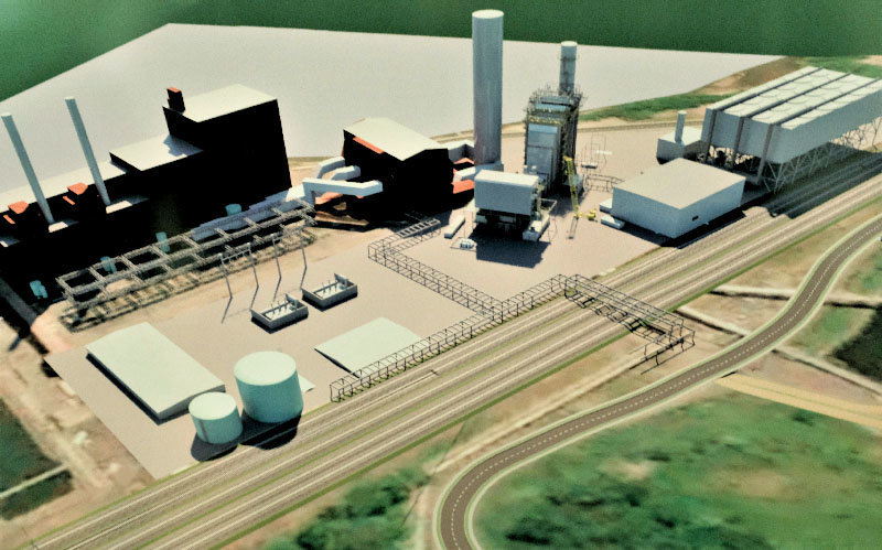 A rendering of the proposed new Danskammer Power Plant in Middlehope.