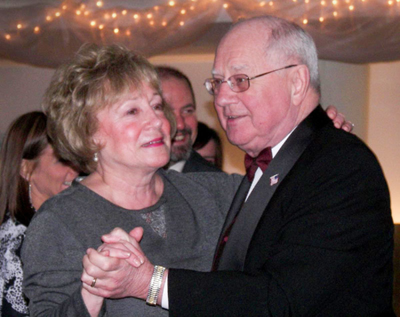 State Senator Bill Larkin danced with his wife Patricia at the Safe Harbors Gala in 2007.