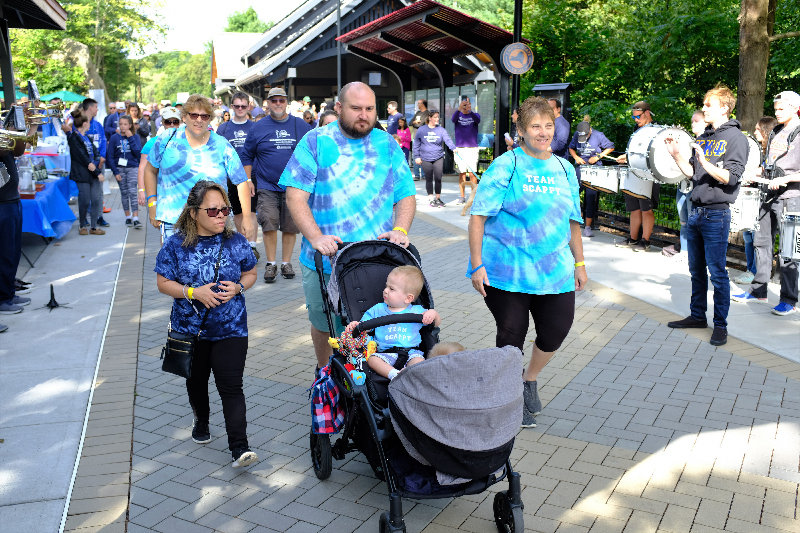Adults, children and babies came out for the Prostate Cancer Walk.