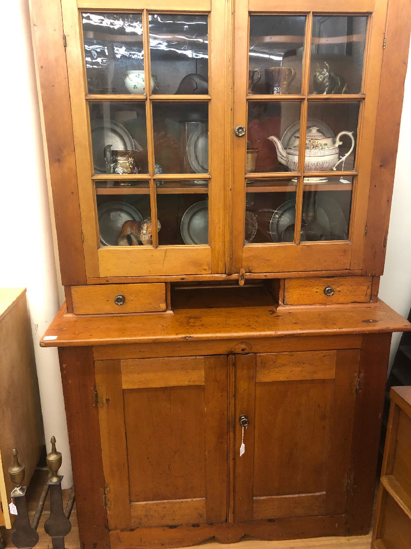 An early 19th century China Cabinet.