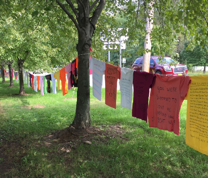 Part of the Clothesline Project at the Orange County Government Center last year.