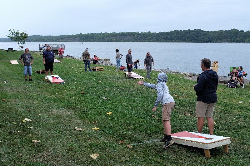 The annual Corn Hole Tournament was held at the Milton Landing Park.