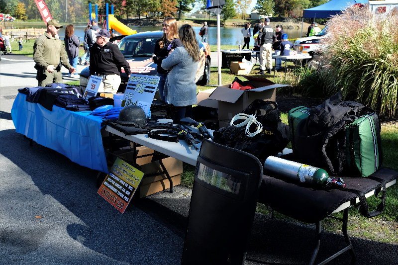 The Marlborough Police Department displayed a wide variety of their tactical equipment.
