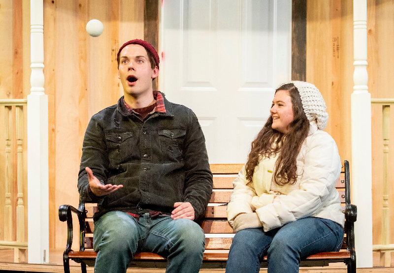 "Publicity photographs for the SUNY Orange production of ""Almost Maine"" on Oct. 17, 2019, in Orange Hall on the SUNY Orange campus in Middletown, N.Y."